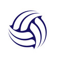 abstract volleyball symbol vector image vector image