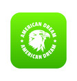 american dream eagle icon green vector image