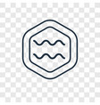 aquarius concept linear icon isolated on vector image