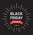black friday big sale banner design holiday vector image