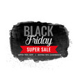 black friday sale watercolor background design vector image