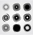 black spiral swirl set vector image vector image