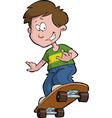 boy on skateboard vector image vector image