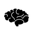 brain icon black sign on vector image vector image