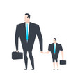 businessman and son business family boss dad and vector image