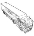 cargo vehicle wire-frame eps10 format vector image vector image