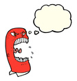 cartoon furious man shouting with thought bubble vector image vector image