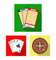 casino and gambling flat icons in set collection vector image