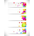 Collection business cards with bright colorful vector image vector image