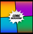 comic halftone background in different colors vector image vector image