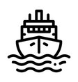 cruise vessel icon outline vector image vector image