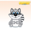 Cute Cartoon Raccoon Funny Animal vector image vector image