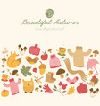 doodle autumn background vector image vector image