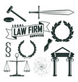 elements for lawyer logo design vector image vector image