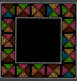 ethnic stylized handmade frame with colored vector image vector image