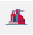 flat design city icon logo vector image vector image