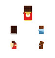 flat icon bitter set of chocolate bar shaped box vector image vector image