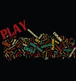 got play text background word cloud concept vector image vector image