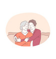 grandmother and grandchild happy family vector image
