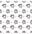 hand drawn romantic doodle pattern-16 vector image vector image