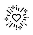 heart and firework wedding thin line icon vector image vector image