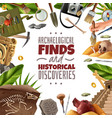 historical discoveries archeology frame vector image vector image