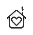 house with heart shape within love home symbol vector image vector image