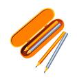 icon pencil case vector image vector image
