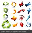 icon set 3d arrows vector image