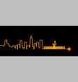 jinan light streak skyline vector image vector image