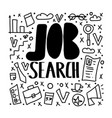 job search concept design vector image