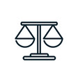 justice peace and human rights line vector image vector image