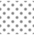 logo flower pattern seamless vector image