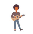 man playing acoustic classical guitar african vector image
