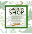 marijuana shop banner vector image