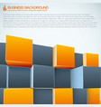 modern business 3d background vector image