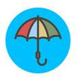 multi-colored umbrella vector image vector image