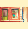 multi-storey apartment vector image