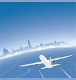 nice skyline flight destination vector image vector image