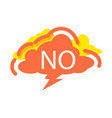 no speech bubble with expression text vector image vector image