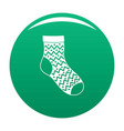 ornament sock icon green vector image vector image