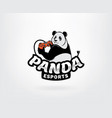 panda logo mascot vector image