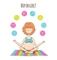 Pregnant woman and baby icon vector image