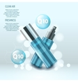 realistic set of cosmetic tubes natural vector image