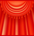 red satin curtains vector image vector image