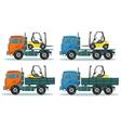 Road trucks vector image vector image
