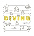 Scuba diving equipment banner vector image vector image