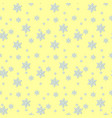 seamless blue pattern with snowflakes vector image vector image