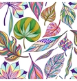 Seamless pattern with colored abstract leaf vector image vector image