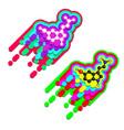 serotonin happiness hormone molecule vector image